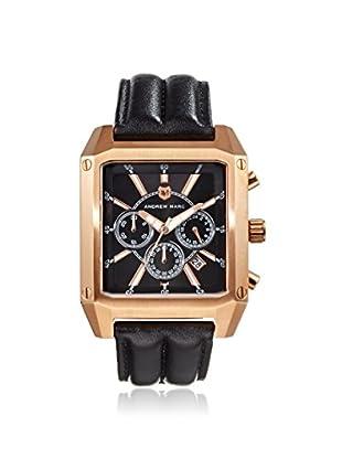 Andrew Marc Men's A11303TP Club Patrol Black/Gold Chronograph Watch