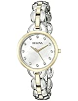 Bulova Analog Mother-Of-Pearl Dial Women's Watch - 98L208
