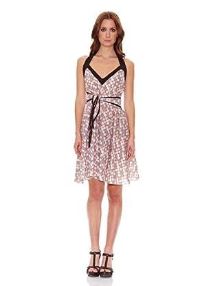 Candora Vestido Pippa (Marrón / Beige / Rosa)