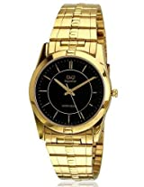 Q&Q Analog Black Dial Men's Watch - S122-002NY