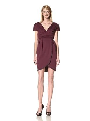 Z Spoke Zac Posen Women's V-Neck Dress (Plum)