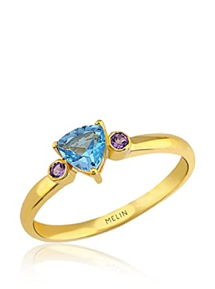 Melin Paris Anillo Brazilian Amethyst & Blue Topaz (Dorado)