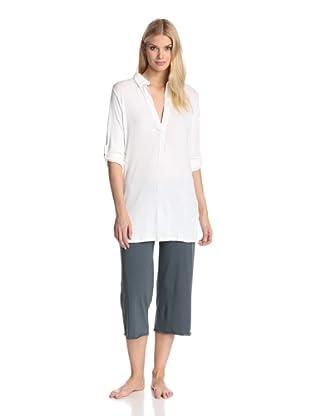 SKIN Women's Ribbed Tunic (White)