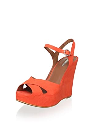 Matiko Women's Lynn Wedge Sandal (Papaya)