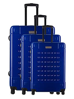 Creation Olivier Lapidus Pour Platinium Set 3 Trolley 4 Ruedas Golf (Azul)