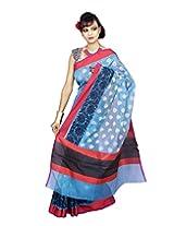 Banarasi TURQUOISE Cotton Silk Sarees exclusive for Women