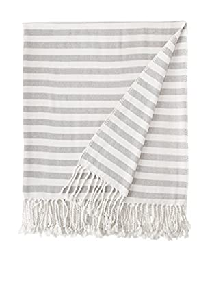Nine Space Viscose from Bamboo Striped Throw Blanket (Slate)