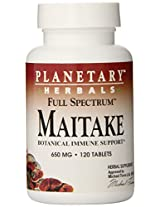 Planetary Formulas Full Spectrum Maitake Grifola Frondosa, 650 mg, Tablets , 120 tablets