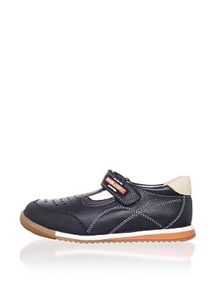 Pablosky Kid's T-Strap Sneaker (Navy)