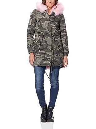OSLEY PARIS Abrigo Camouflage Parka With Faux Fur