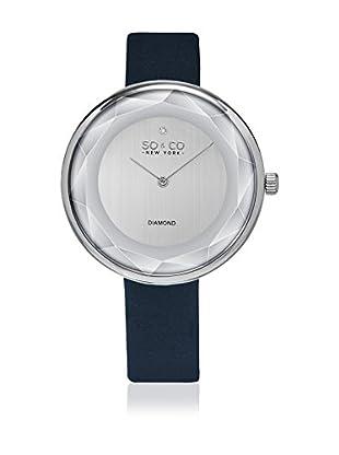 SO & CO New York Reloj con movimiento cuarzo japonés  Azul Oscuro 38 mm