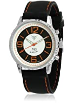 GL-007OR Black/Orange Analog Watch Figo
