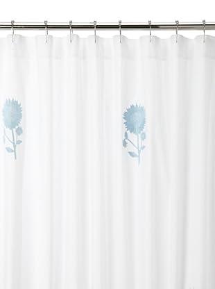 Haute Home Sunflower Shower Curtain, Blue