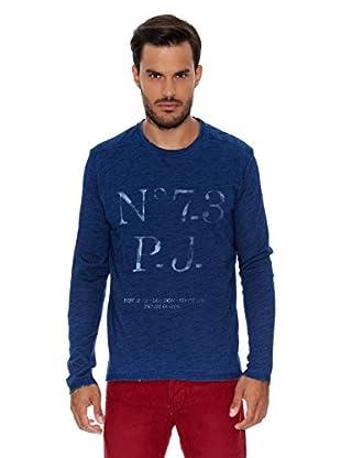 Pepe Jeans London Camiseta Manga Larga Triton (Azul Oscuro)
