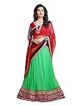 atisundar wonderful Velvet Lehenga in Red- 6833_30_51003