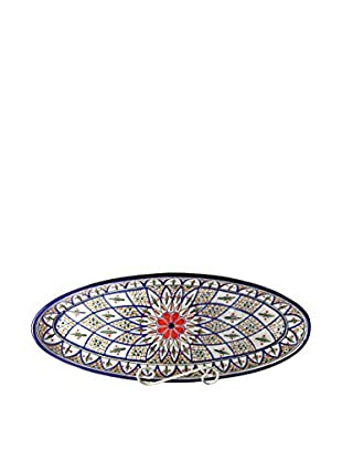 Le Souk Ceramique Tabarka Extra Large Oval Platter, Multi