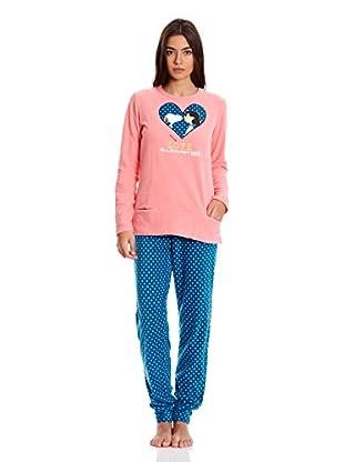 Gisela Pijama Camiseta Y Pantalón (Rosa)