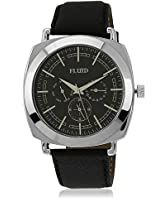 Fl-120-Ips-Bk01 Black/Black Analog Watch Flud