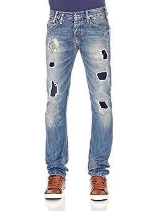 Pepe Jeans London Vaquero Ledger (Azul Medio)