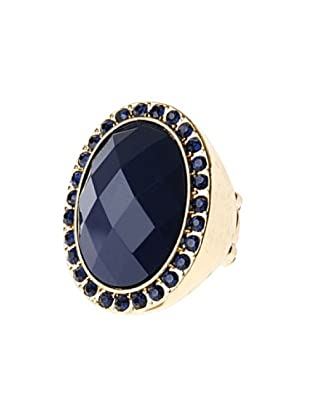 Fashion Victime Anello Elastico blu