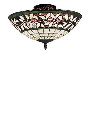 Artistic Lighting English Ivy 3-Light Semi-Flush, Bronze