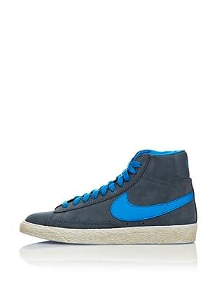 Nike Zapatillas Blazer Mid Vintage (Gs) (Gris / Azul)