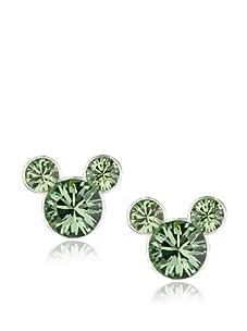 Disney Mickey August Birthstone Earrings, Silver