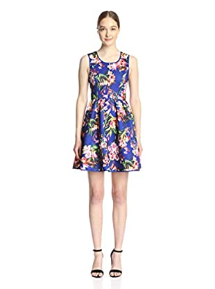 Gracia Women's Printed Fit-and-Flare Dress