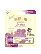 Hawaiian Tropic Tropical Lip Balm SPF 45+ Sunscreen (Pack of 6)