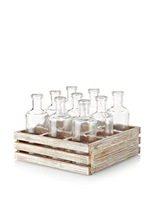 9-Bottle Crate, Whitewash