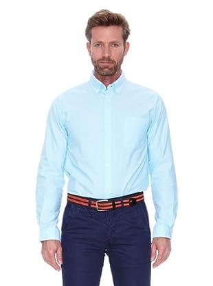 Cortefiel Camisa Oxford Liso Colores (Azul)