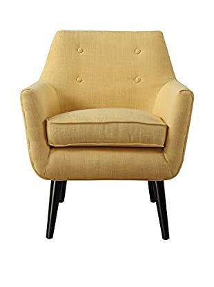 TOV Furniture Clyde Linen Chair, Mustard Yellow