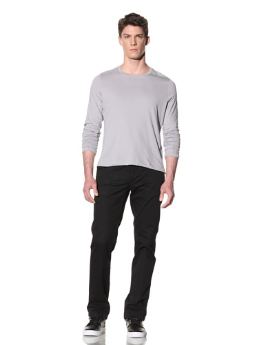 Number:Lab Men's Long Sleeve Crew (Silver)