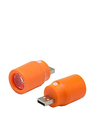 Unotec Mini Linterna LED USB Naranja