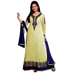 Designer Light Yellow Colour Semi Georgette Anarkali Salwar Kameez