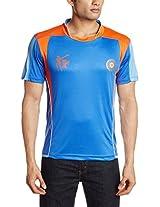 ICC CWC 2015 India V Neck T-Shirt, Men's  X-Small (India Blue)
