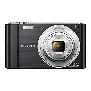 Sony Cybershot DSC-W810/B 20.1MP Digital Camera (Black) with Bag