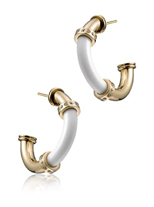 TIME FORCE Pendientes TS5136PY Blanco/Dorado