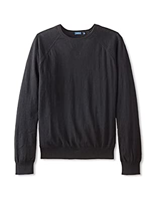 Thirty Five Kent Men's Solid Brushed Cotton Crew Neck
