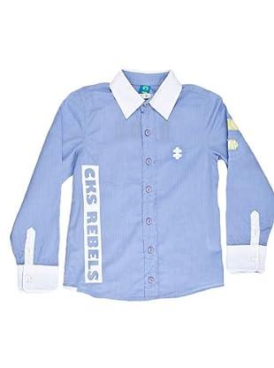 Naf Naf Chevignon Camisa Print (Azul)