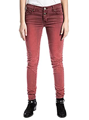 Timezone Damen Hose Nalatz 5-Pocket Pants, Rot (Riot Red 5203), W25/L32