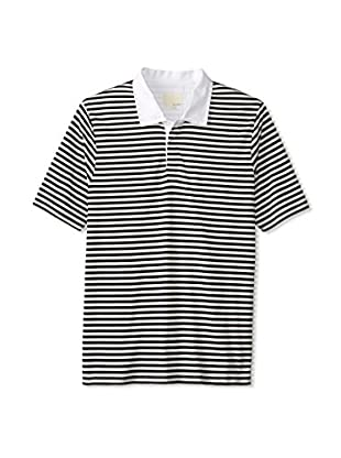 Band of Outsiders Men's Striped Rugby Polo (Black)