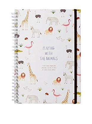 O-Check Design Graphics Section Drawing Book Animal, Multi