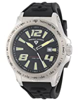 Swiss Legend Men's 10043-01 Sprint Racer Black Dial Black Silicone Watch