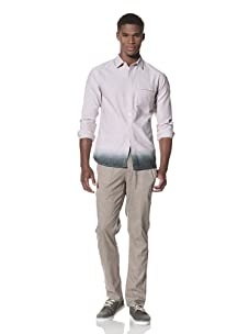 SLDVR Men's Collins Button-Front Shirt (Light Grey)