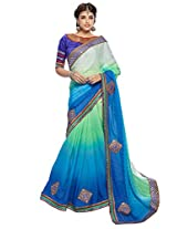 KVS FAB Multicolor Georgette Saree