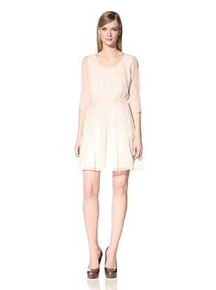 Marc New York Women's Printed Scoop Neck Dress (Cream)