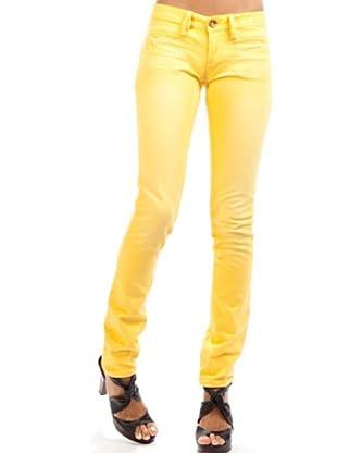 Desigual Pantalón Slim (Amarillo)