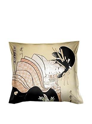 JAPAN MANIA by MANIFATTURE COTONIERE Abwaschbares Kissen Lettera D'Amore