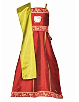 Hello Kitty Girls Ethnic Wear Set - Maroon (1 - 6 Years)